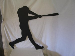 Baseball Player 002 Metal Sports Wall Yard Art Silhouette