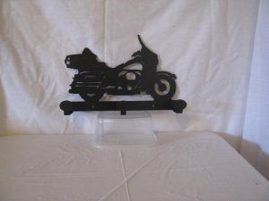 Motorcycle 003 Coat Rack Metal  Silhouette Wall Yard Art