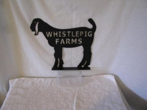 Goat 002 Mailbox Topper with Name Metal Wall Yard Farm Art Silhouette