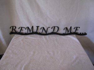 Baby Remind Me Metal Wall Art Silhouette