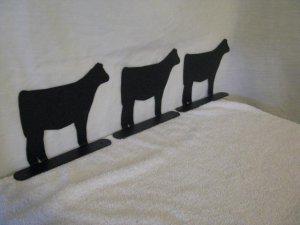 Beef Calf Mailbox Topper Large Farm livestock Art Silhouette set of 3