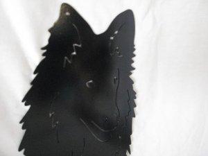 Collie Rough 002 M Metal Wall Yard Art Dog Silhouette