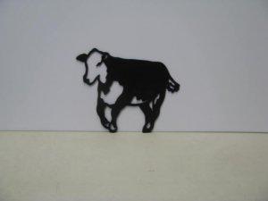 Hereford Western Metal Art Silhouette