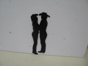 Cowboy and Cowgirl CBL007 Western Metal Wall Art Silhouette