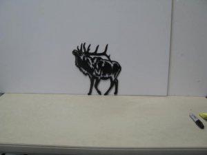 Bull Elk 024 Metal Art Silhouette