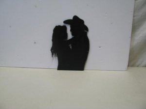 Festive Romance Western Romance Metal Art Silhouette