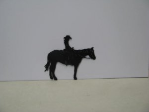 Girl on Horse Western Metal Art Silhouette