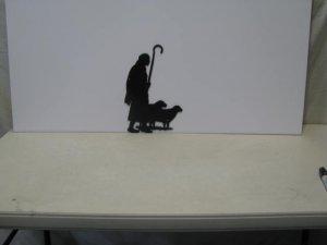 Shepherd 001  Metal Art Silhouette
