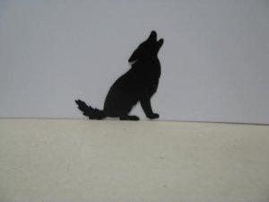 Coyote Howling 003 Wildlife Metal Art Silhouette