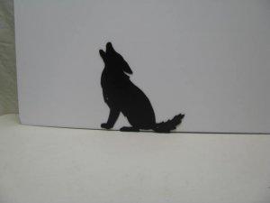 Coyote Howling 003 Wildlife Animals Metal Art Silhouette