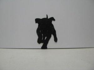 Puppy Metal Wall Yard Art Silhouette
