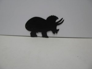 Dinosaur 035 Metal Wall Yard Art Silhouette