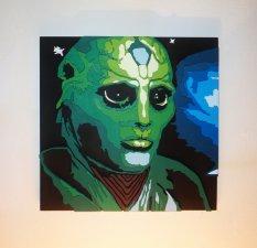 Handmade Thane Krios, Mass Effect portrait