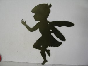 Fairy A Metal Wall Yard Art Silhouette