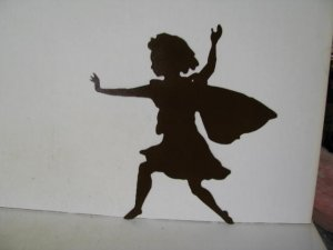 Fairy C Metal Wall Yard Art Silhouette