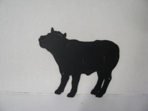 Bull Calf Metal Wildlife Wall Yard Art Silhouette
