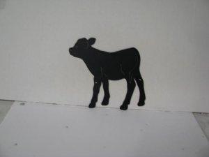 Calf 001 Metal Wildlife Wall Yard Art Silhouette