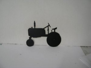 Tractor Farmall Cub Metal Wall Yard Art Silhouette