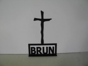 Cross 028 With Names Metal Wall Art Silhouette