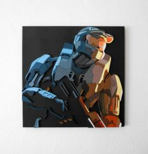 Handmade Halo 3 wall hanging