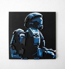 Handmade Halo 3: ODST wall hanging