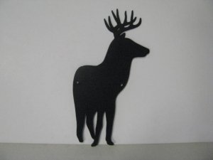 Whitetail Buck 154 Small Metal Art Silhouette