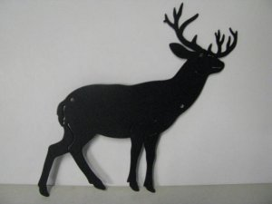 Whitetail Buck 155 Small Metal Art Silhouette