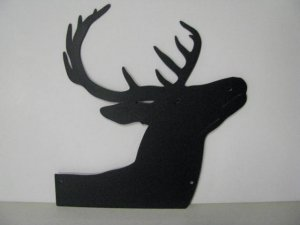 Whitetail Buck 158 Small Metal Art Silhouette