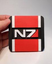 Handmade Mass Effect N7 coaster