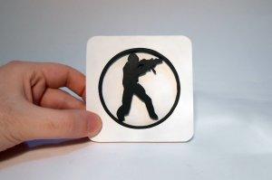 Handmade Counter Strike coaster