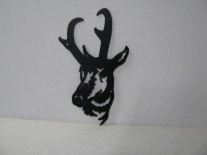Pronghorn Large Metal Art Silhouette
