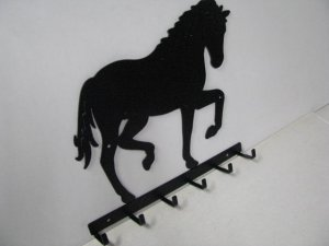 Horse 197 Walking 6 Hook Key Holder Metal Art