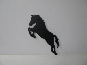 Horse 201 Large Jumping Farm Metal Art Silhouette