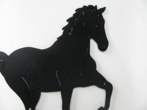 Horse 195 Large Walking Farm Metal Art Silhouette