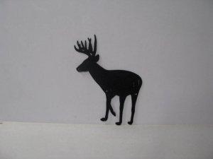 Buck 036 Large Standing Wildlife Rustic Metal Art Silhouette