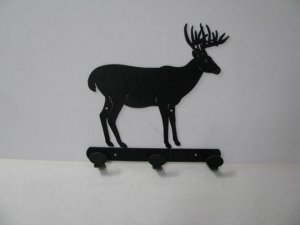 Buck 037 Standing 3 Hook Coat Rack Metal Art