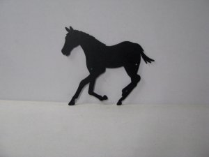 Colt 001 Large Running Farm Metal Art Silhouette