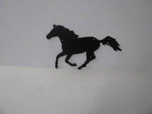 Thoroughbred 002 Large Running Farm Metal Art Silhouette