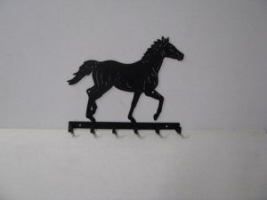Thoroughbred 006 Walking 6 Hook Key Holder Farm Silhouette