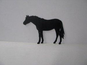 Thoroughbred 007 Large Standing Farm Metal Art Silhouette