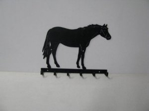 Thoroughbred 007 Standing 6 Hook Key Holder Silhouette