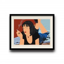 Pulp Fiction, Mia Wallace minimalist poster, Pulp Fiction digital art poster