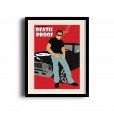Death Proof minimalist poster, Death Proof digital art poster