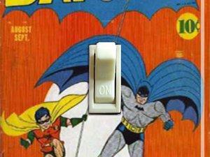 Vintage Batman #6 1941 Comic Switch Plate (Single)