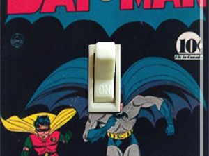 Vintage Batman #3 1940 Comic Switch Plate (Single)