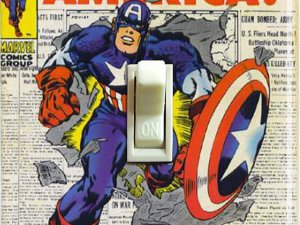 Vintage Captain America #109 1968 Switch Plate (Single)