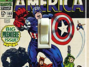 Vintage Captain America #100 1968 Switch Plate (Single)