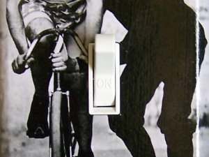 ELF BIKE Vintage Photograph Switch Plate (single)