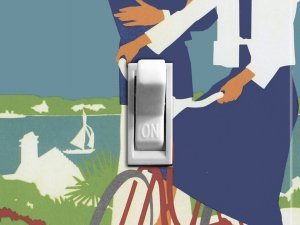 BEACH BIKE vintage poster Switch Plate (single)