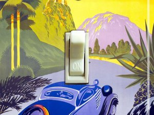 Visit GREECE Vintage Travel Poster Switch Plate (single)